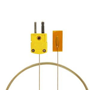 PerfectPrime TL0225, Surface Contact,0.25 mm diameter, K-Type Sensor Probe with Sticker for K-Type Thermocouple Thermoemter/Meter, Temperature Range up to 200 °C/ 392°F