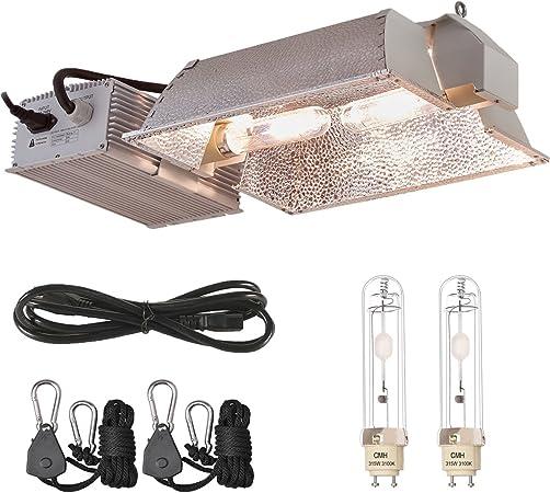 315W CMH CDM Grow light kit W//3100k Bulb VERTICAL Reflector Indoor Plant Growing