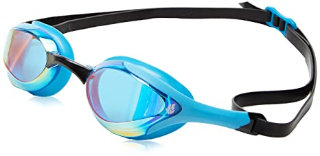 24454a0ed8 Amazon.com   Mad Wave Alien Rainbow Mirrored Goggles -Azure   Sports ...