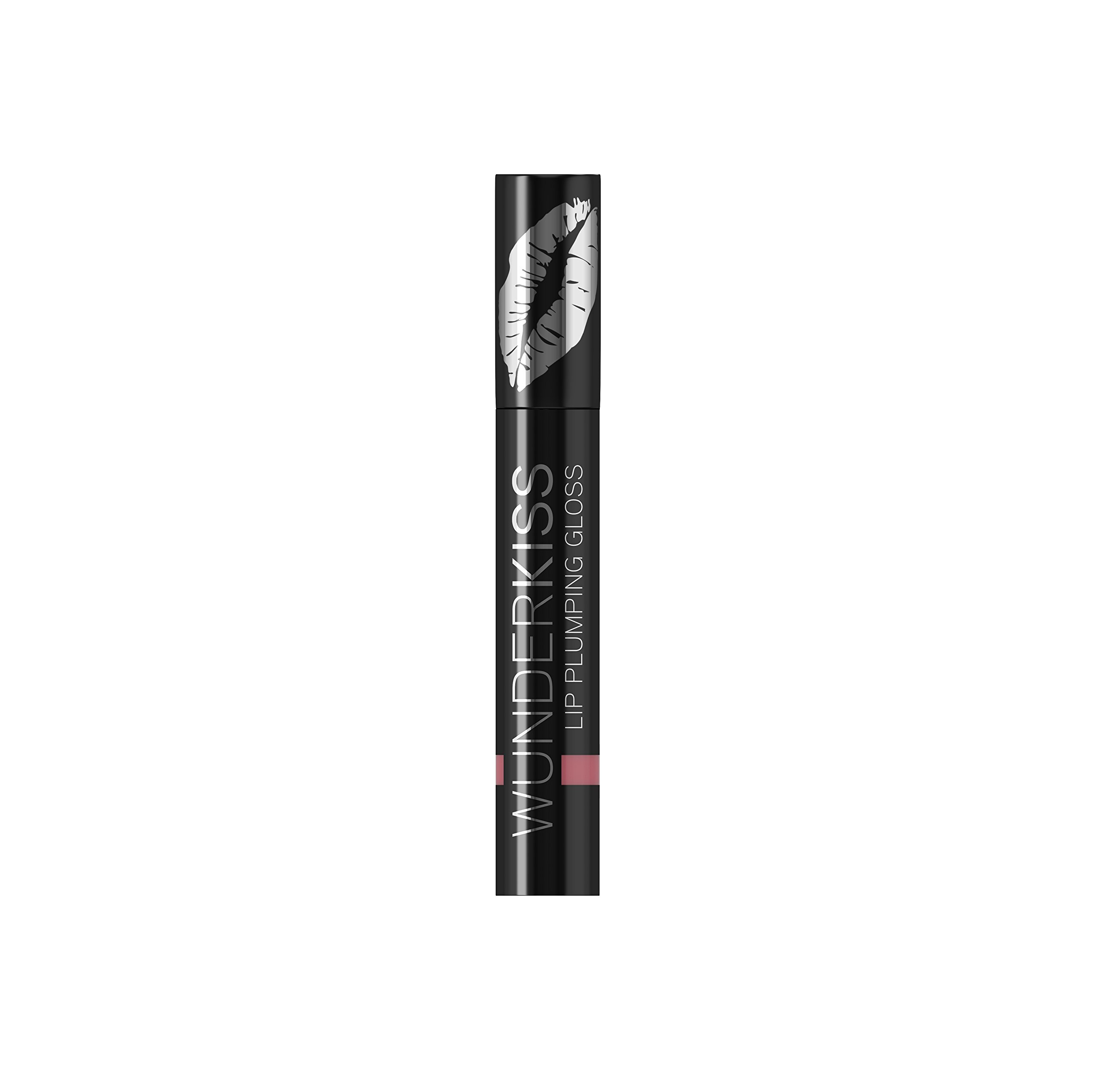 WUNDER2 WUNDERKISS Plumping Lip Gloss - Lip Plumper for Hydrated and Voluminous Lips, Rose Color