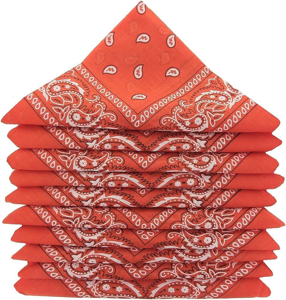 KARL LOVEN – Lote de pañuelos 100% algodón Paisley pañuelo fichu bandana – Lote de 600 unidades naranja oscuro: Amazon.es: Ropa y accesorios