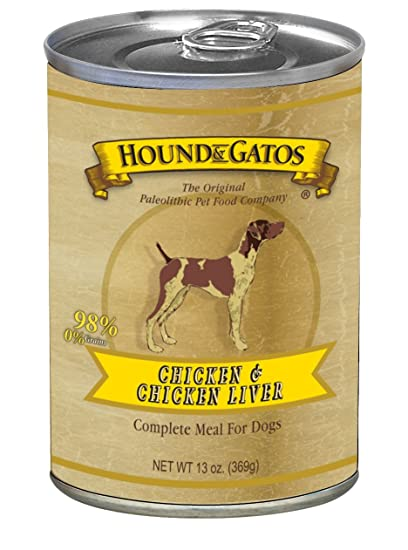 Hound & Gatos Pet Food Chicken Formula Canned Dog Food, 13 Oz., 12