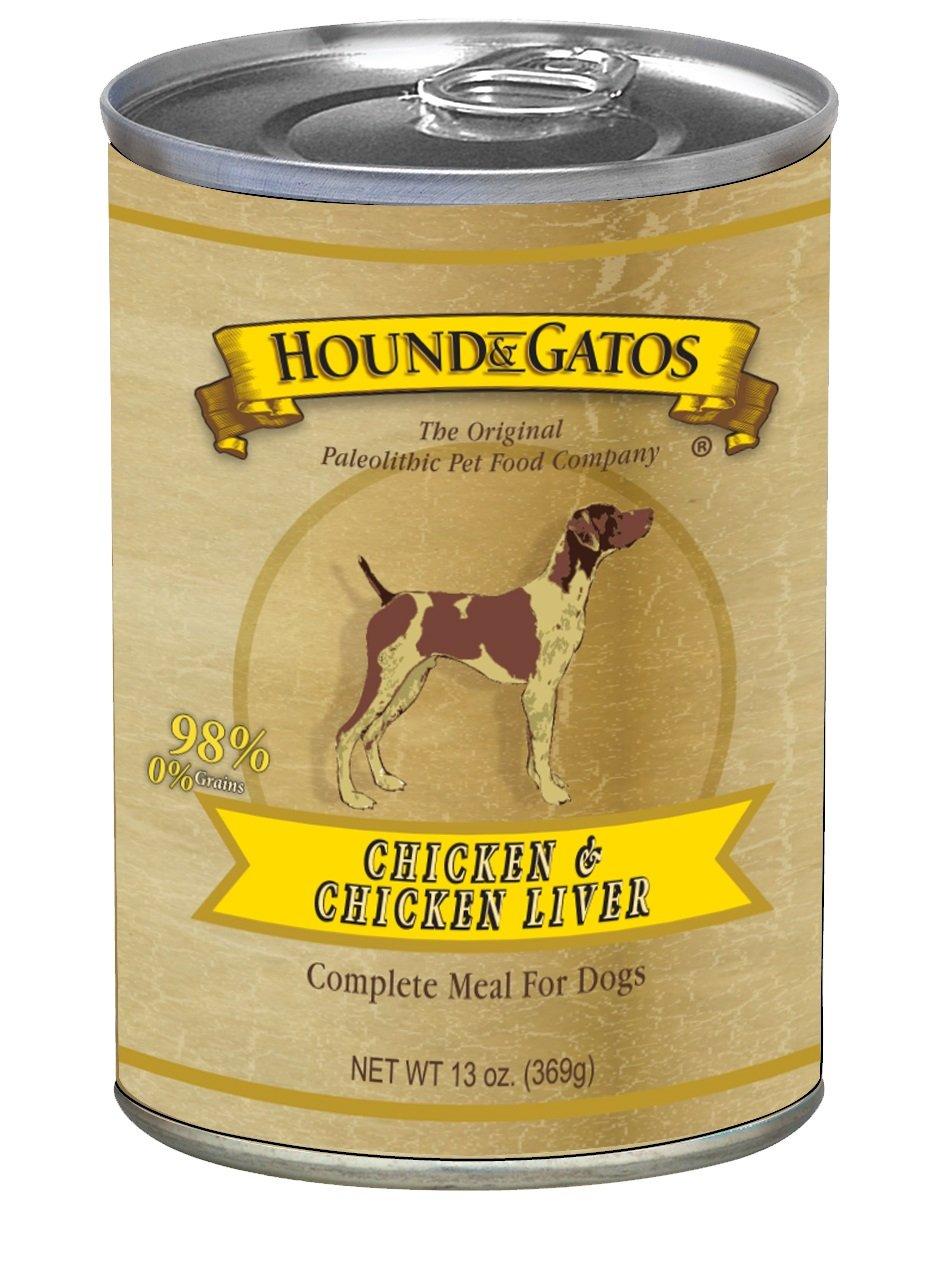 HOUND & GATOS PET FOOD Chicken Formula Canned Dog Food, 13 oz., 12-Pack