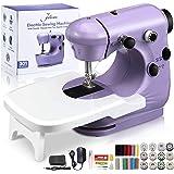 Jeteven Mini Electric Sewing Machine, Handheld Household Sewing Machine Portable Lightweight Sewing Machine for Beginners, Ki
