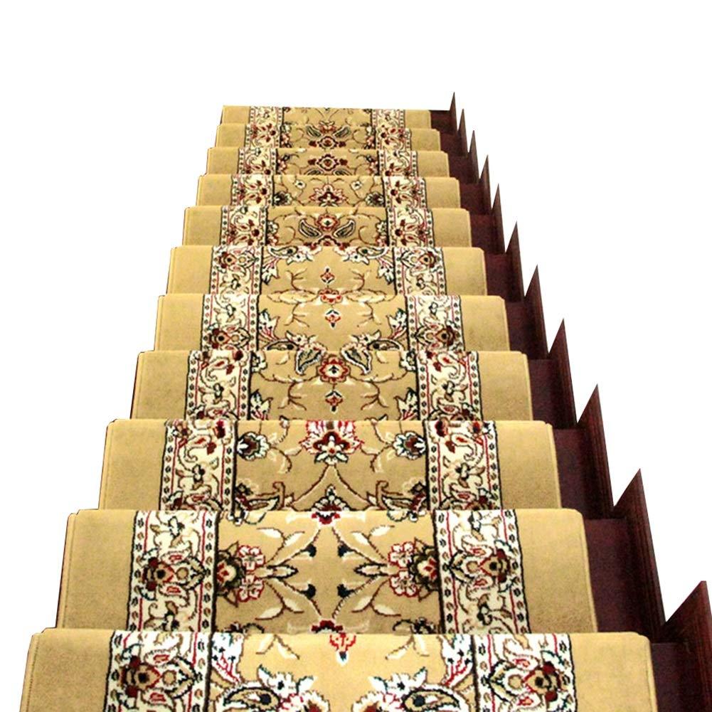 アンチスキッド家庭用敷物、滑らかなソリッドウッド用階段踏面カーペット、マジックタイプ階段マットバックル (色 : Set of 13, サイズ さいず : 65x24+3cm) 65x24+3cm Set of 13 B07M783XSP