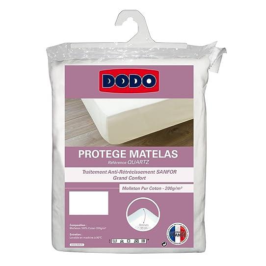 Dodo Protège-Matelas En Molleton 100% Coton Forme Drap Housse