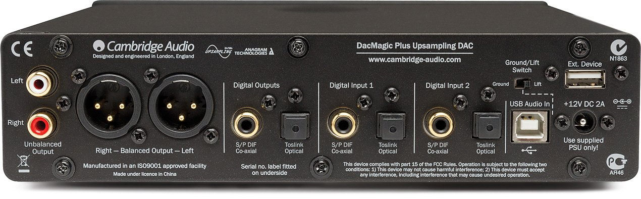 Cambridge Audio Azur DacMagic Plus Digital to Analogue Convert, Black by Cambridge Audio