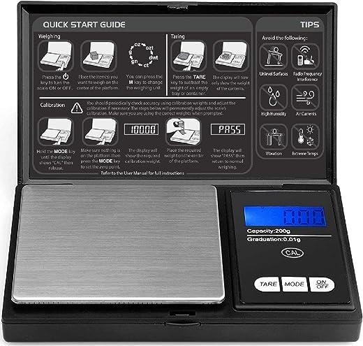 ROYALTEC Digital Pocket Scale - 200g x 0.01g - Black (Batteries Included)