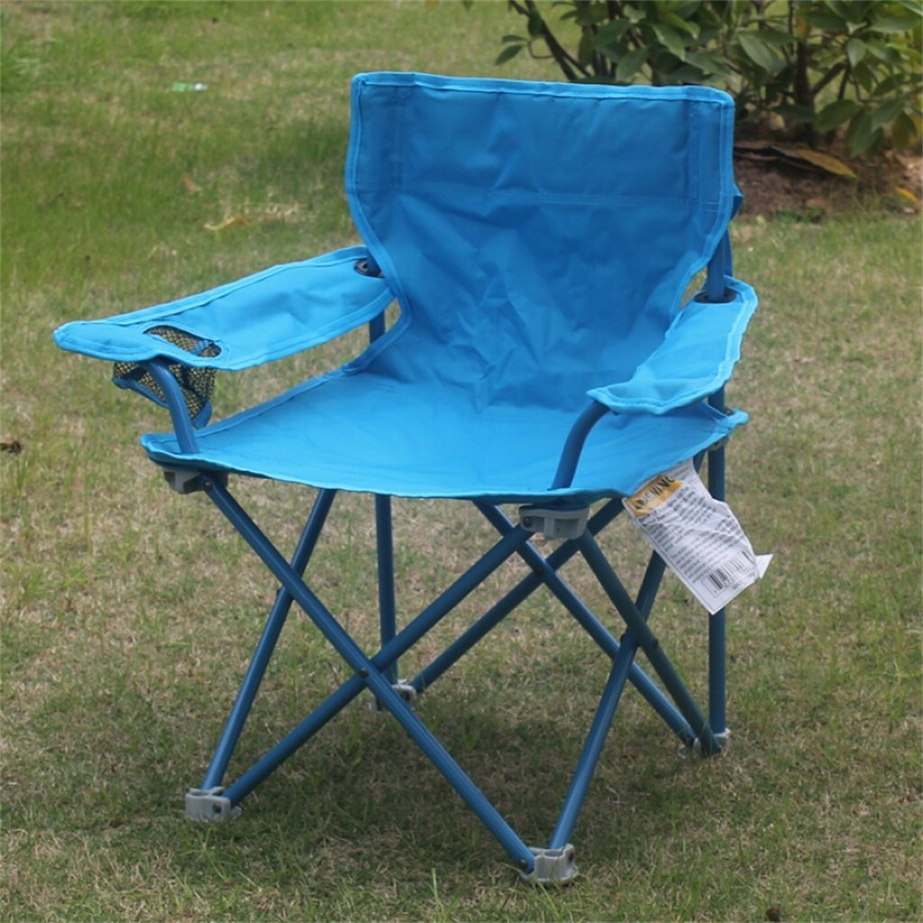 GHM Campingstuhl Klappstuhl im Freien beweglicher beiläufiger Strand-Fischen-Camping-Stuhl (34  34  64cm)
