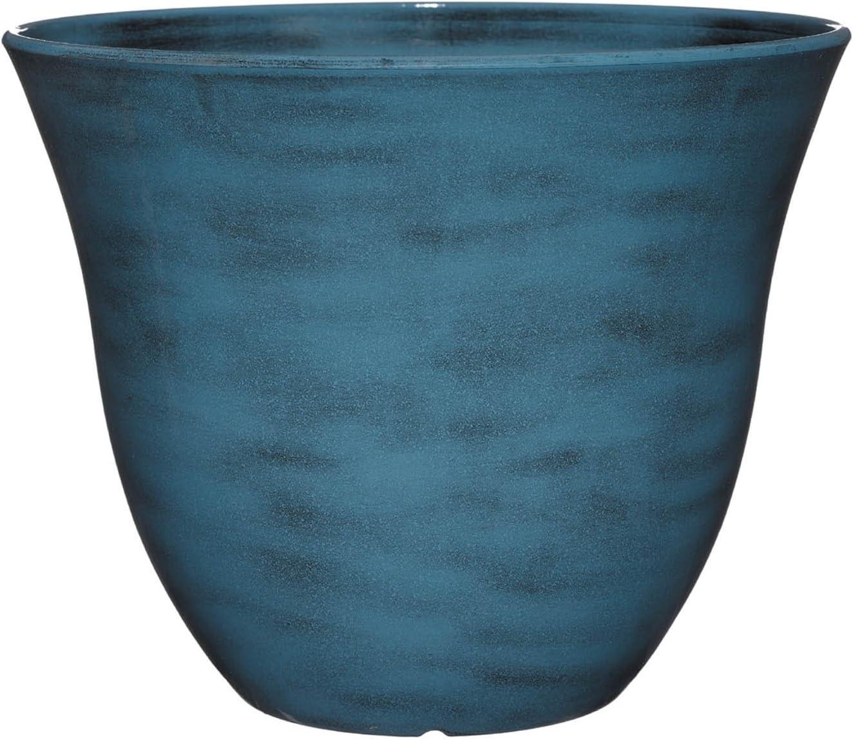 "Classic Home and Garden Honeysuckle Planter, Patio Pot, 15"" Blue Jean"