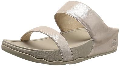 3aa5d1150a06 FitFlop Women s Lulu Shimmersuede Slide Sandal