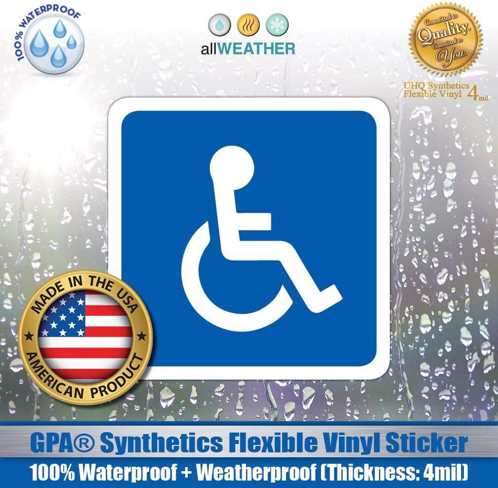 "Handicap Accessible ADA Wheelchair Vinyl Decal Sticker Self Adhesive 5.5/"""