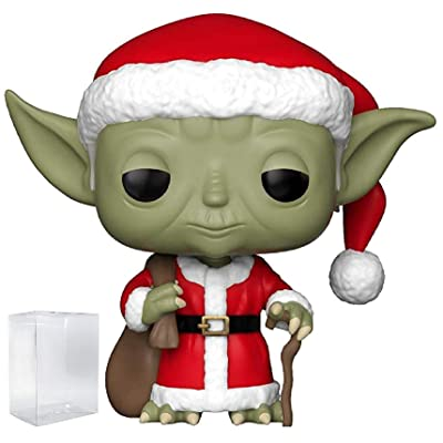 Funko Pop! Star Wars: Holiday - Santa Yoda Vinyl Figure (Includes Pop Box Protector Case): Toys & Games
