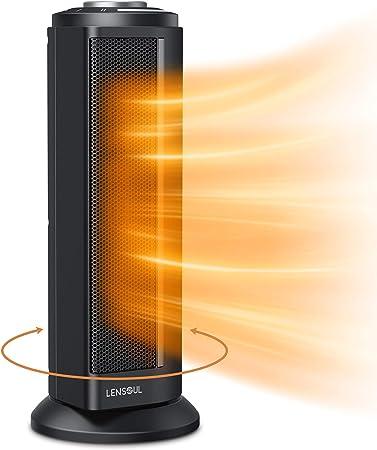 Lensoul Calefactor, Calentador PTC Portable para Interiores de Gran eficiencia, Calefactor eléct...