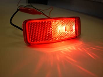 Jammy J-225-R 4 x 1-3//8 Red LED Clearance Marker Light