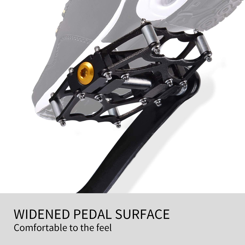 Bici Carretera Pedales Ciclismo de Aluminio Pedales Plataforma con Rodamiento 9//16 para Mountain Bike Bicicleta BMX Selighting Pedales MTB Bicicleta