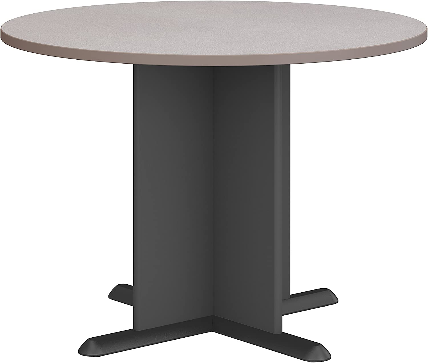 Bush Business Furniture Series A & C 42 Inch Round Conference Table in Pewter