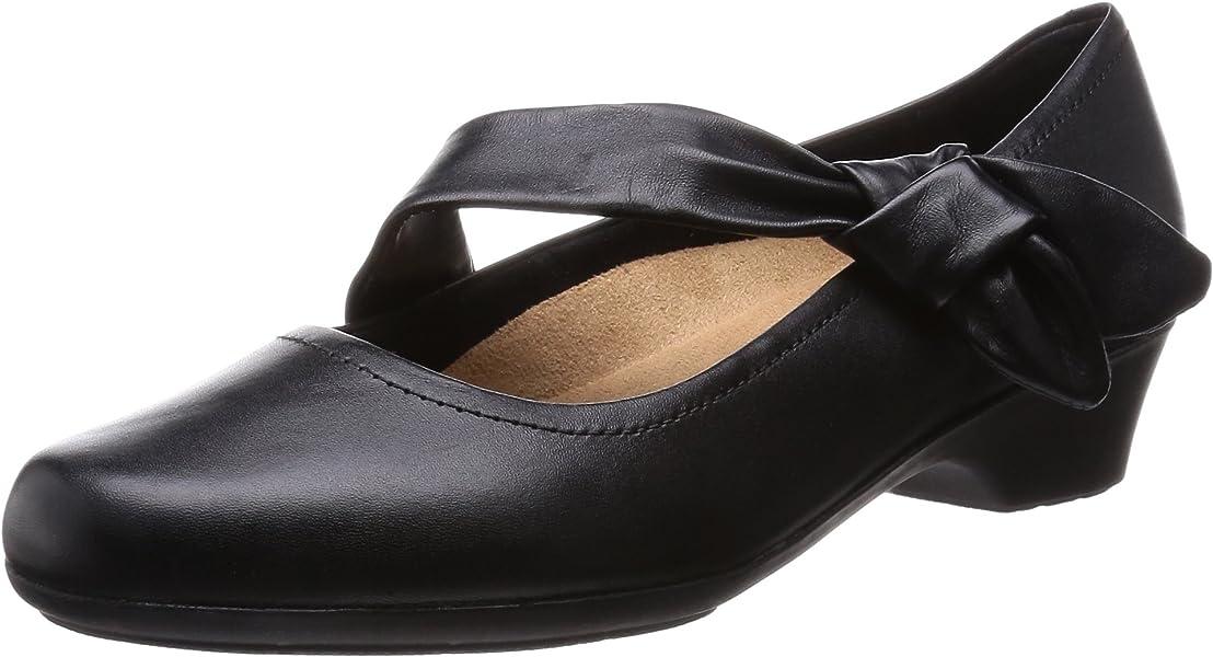 2e7d306f5e2d Clarks Ladies Wide Fit Ella Lorraine Black Leisure Shoes Size 5 ...