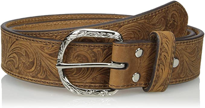 Mens Nocona Scroll Embose Flag Buckle Belt Nocona Belt Co