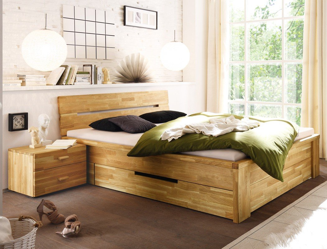 massivholzbett caspar nachttisch wildeiche ge lt stauraumbett holzbett bett nachtkonsole nako. Black Bedroom Furniture Sets. Home Design Ideas
