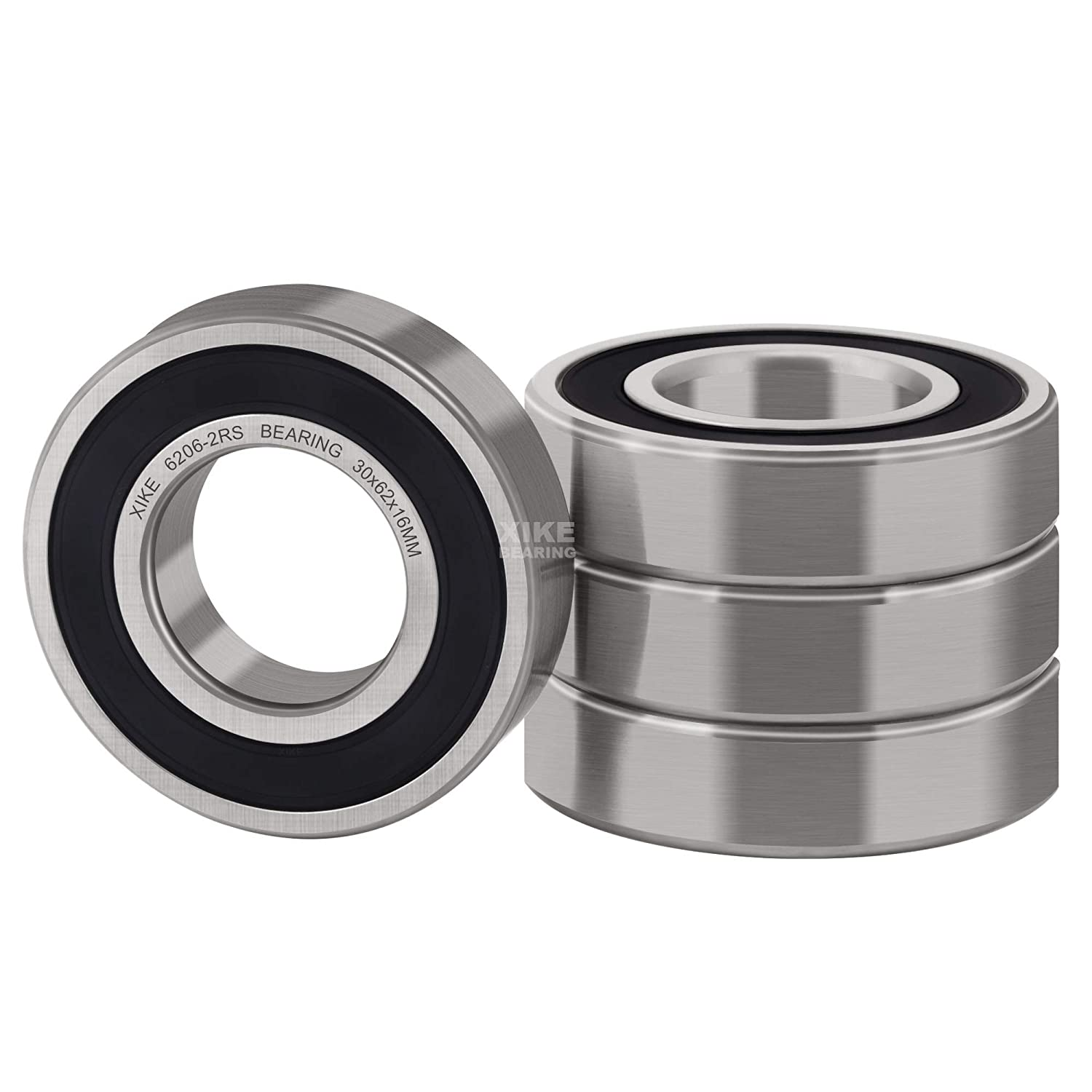 Qty-2 6206-2RS Rubber Seal Ball Bearing