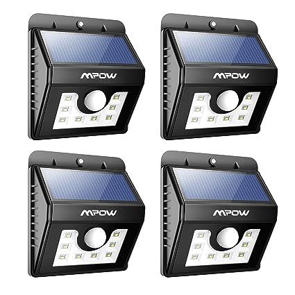 Solar LED Sensor De Movimiento Luces,Mpow 3en1 Impermeable solar Energia Funcionamiento Luz De Seguridad