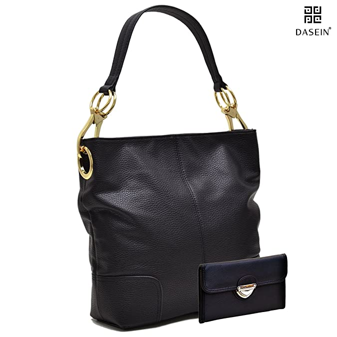 d79db12966 Amazon.com  Dasein Women s Classic Faux Leather Hobo Purse Shoulder Bag  Tote Handbag  Shoes