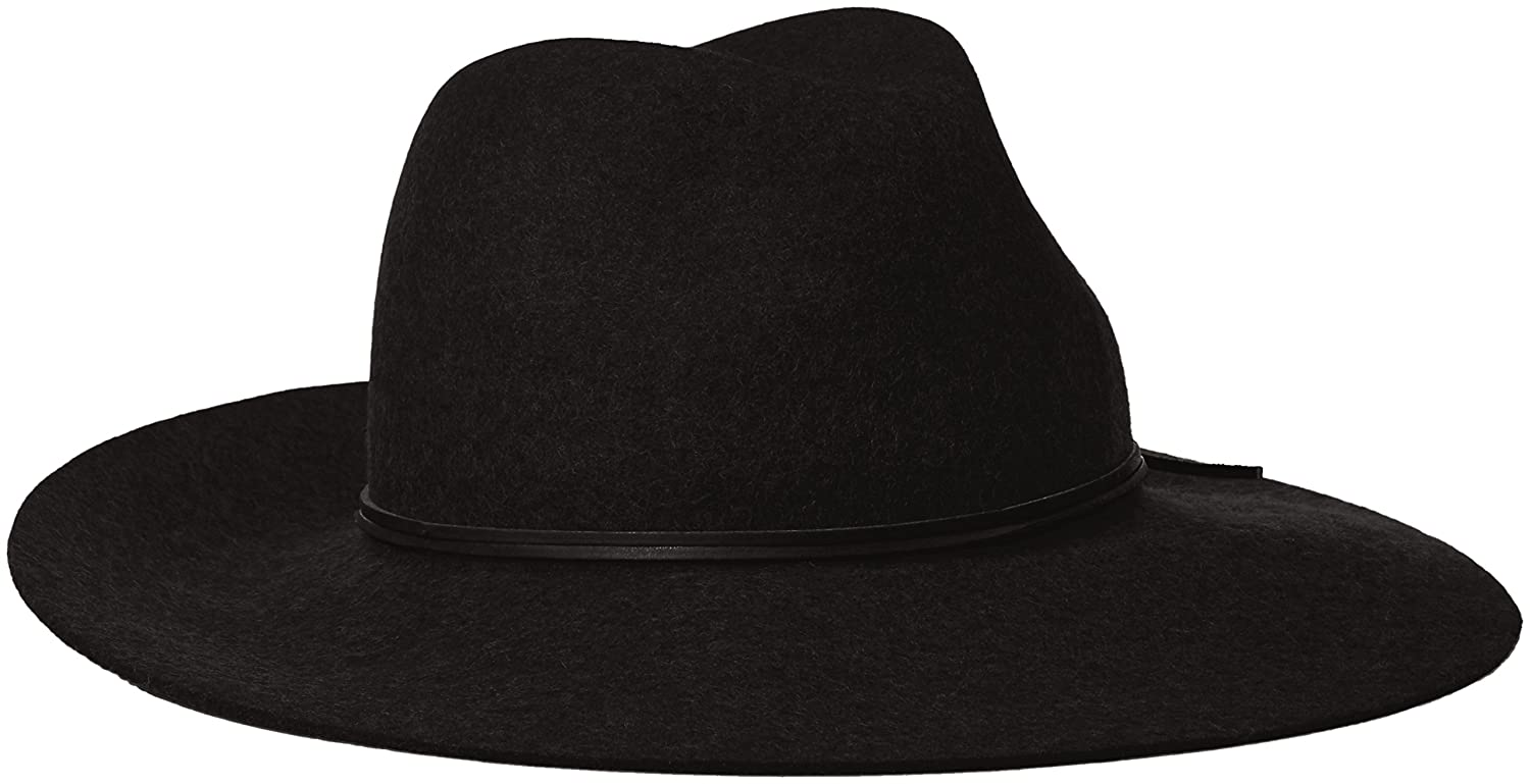 0f47a59c Phenix Cashmere Women's Wide Brim Wool Felt Fedora Hat, Black, One Size at  Amazon Women's Clothing store: