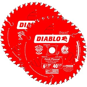 "Diablo 6-1/2"" x 40-Tooth ATB Precision Finishing Saw Blade (2-Pack)"