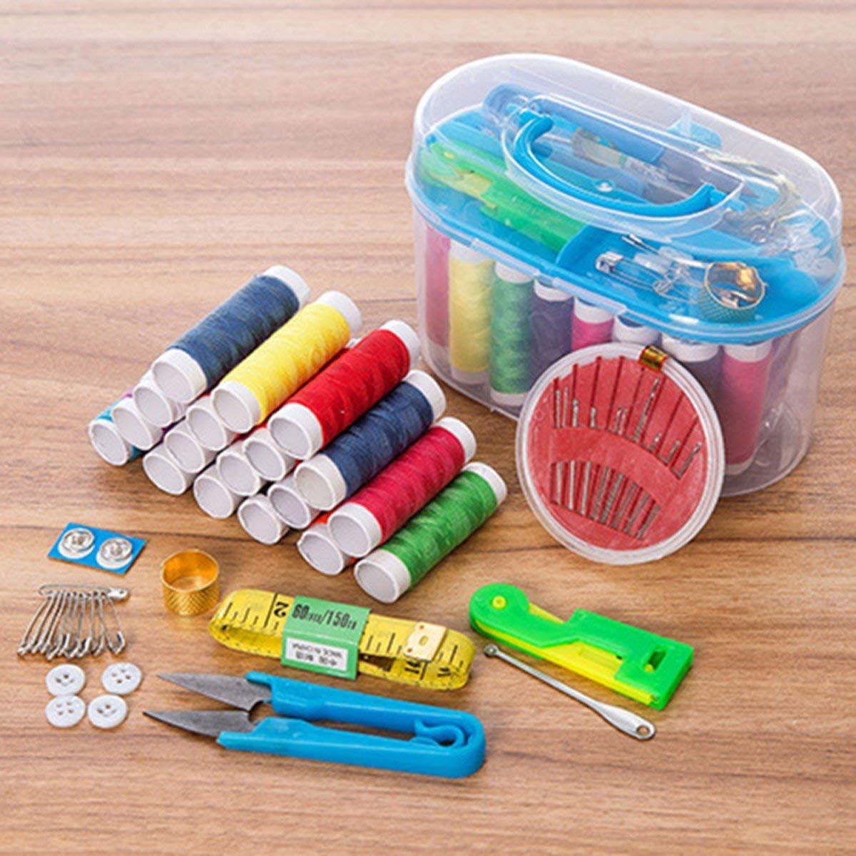 Greatangle-UK Sewing box set of 10 Practical home sewing box Universal portable finishing sewing kit