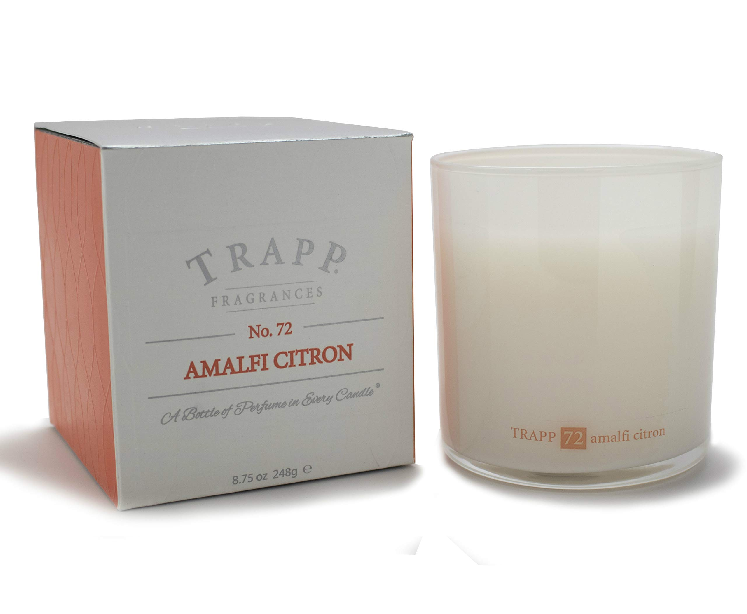 Trapp Ambiance Collection Poured Scented Candle, 8.75 Ounces - No. 72 Amalfi Citron