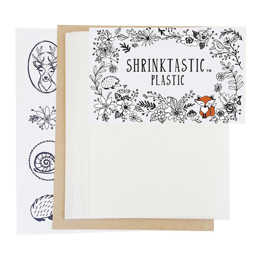 ShrinkTastic Plastic Shrink Plastic 15 Sheets Satin Finish