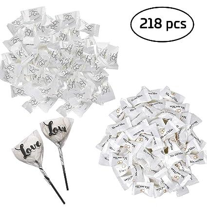 Botellas N Bags 218 piezas de caramelos de boda incluye 216 ...