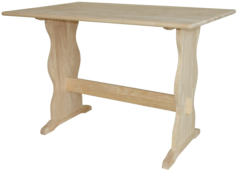 amazon com international conceptst 4328 trestle table unfinished amazon com international conceptst 4328 trestle table unfinished kitchen dining