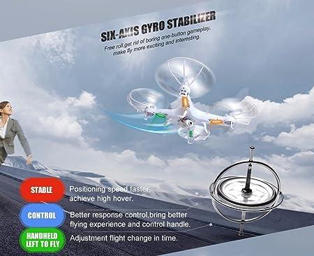 Drone Quadricoptère SYMA X5C-1 Version Améliorée avec CAMÉRA VIDÉO ...