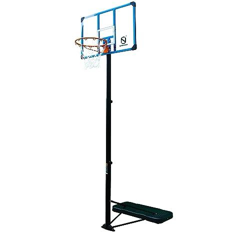 Northern Stone - Canasta de Baloncesto Vertical, con Base, de 112 cm, Profesional, de Altura Ajustable, portátil, con aro, con Tablero de Impacto de ...