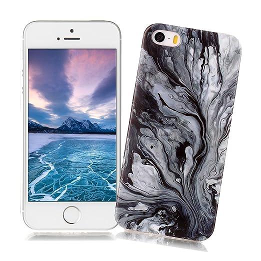 15 opinioni per Cover iPhone 5/5S/SE con Disegno di Marmo XiaoXiMi Custodia in TPU Silicone Soft