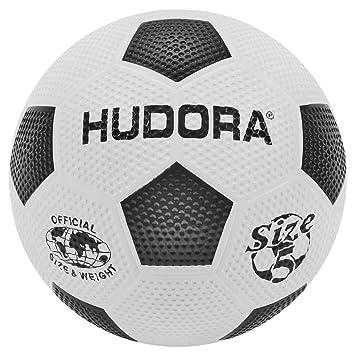 Hudora 71684 Football (Soccer) Ball Negro, Color Blanco Balon ...