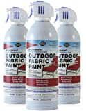 Simply Spray Outdoor Waterproof Fabric Spray Paint 13.3 Oz. Can 3 Pack Burgundy