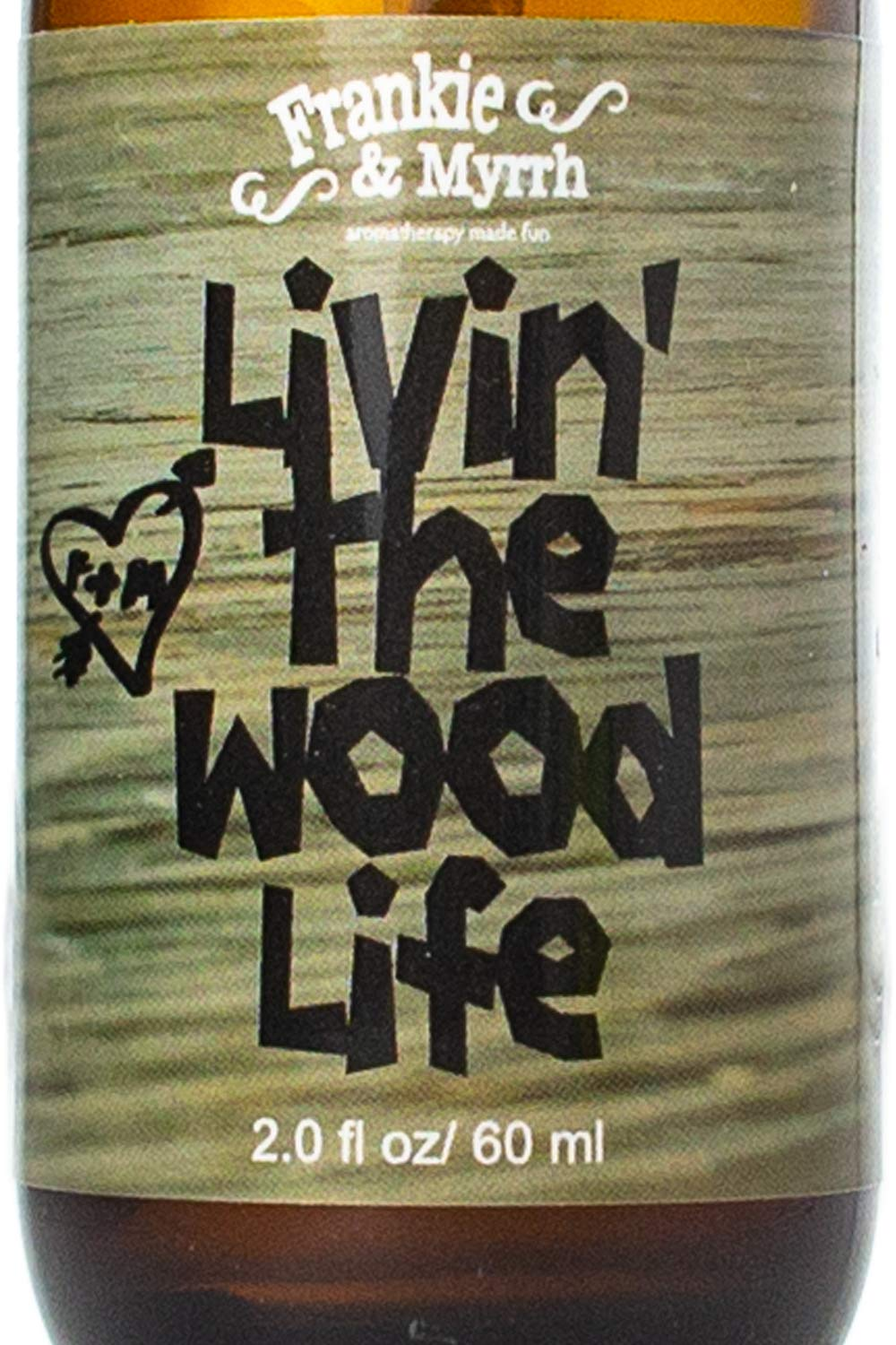Livin' The Wood Life | Patchouli, Cedar, Vanilla Natural Perfume/Cologne | Essential Oil Spray by Frankie & Myrrh