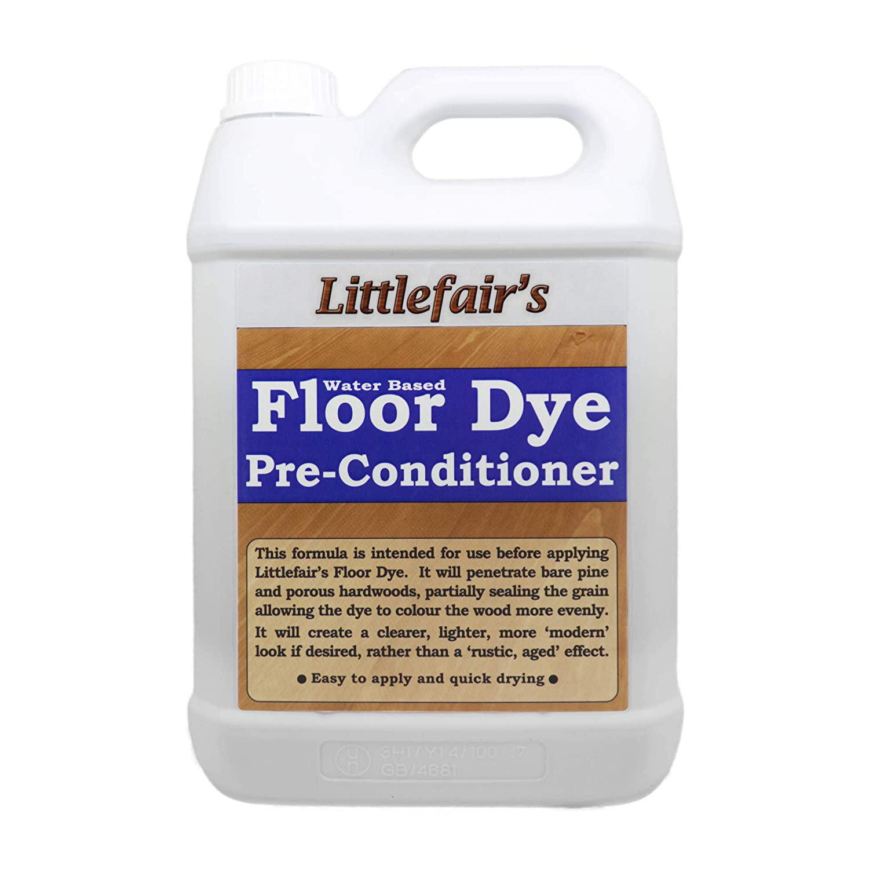 Littlefair's Water Based Floor Dye Pre-Conditioner (2.5ltr) Littlefair' s Wood Finishing Products