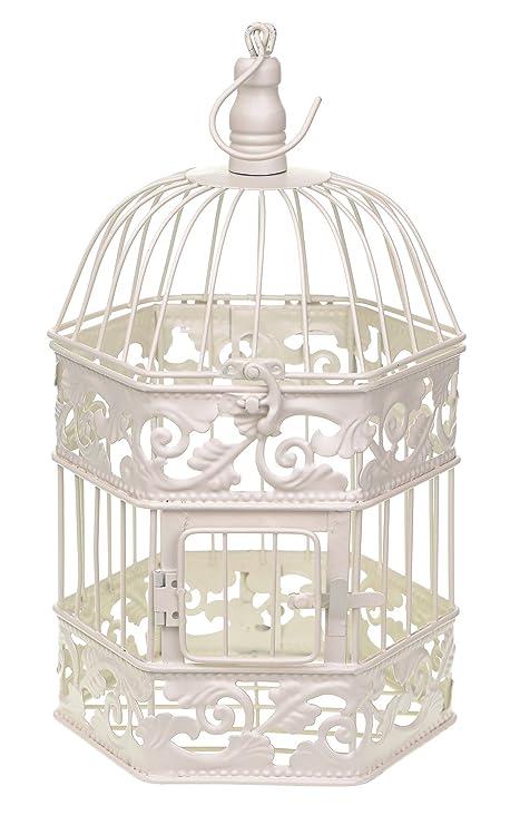 Marfil Boda redondo decorativo de metal jaula mesa decoraciones de ...