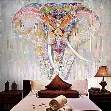 Wallpaper Creative Colorful Elephant Animal Pattern 3D Custom Fresco For Bedroom Living Room