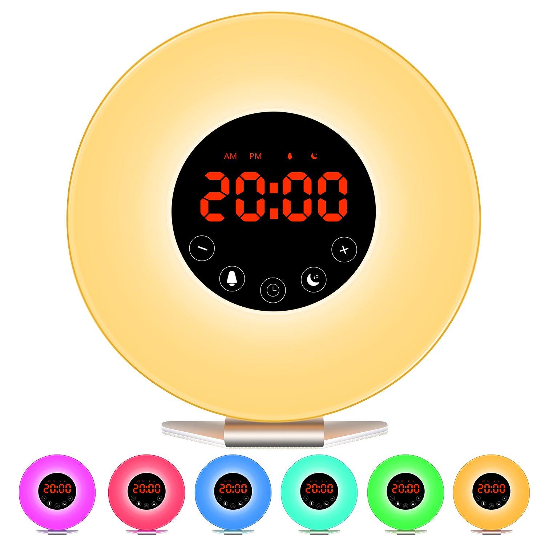 LED Nachtlicht StillCool Vasenlampe Anti-fallen Nachttischlampe Schlummerleuchten Stimmungslicht Leselampe mit 16 RGB-Farbe fü r Haus, Schlafzimmer, Geschenk. Swonuk