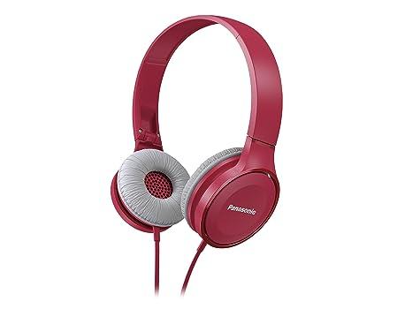 Panasonic On Ear Stereo Headphones RP-HF100-P with Travel-Fold Design,