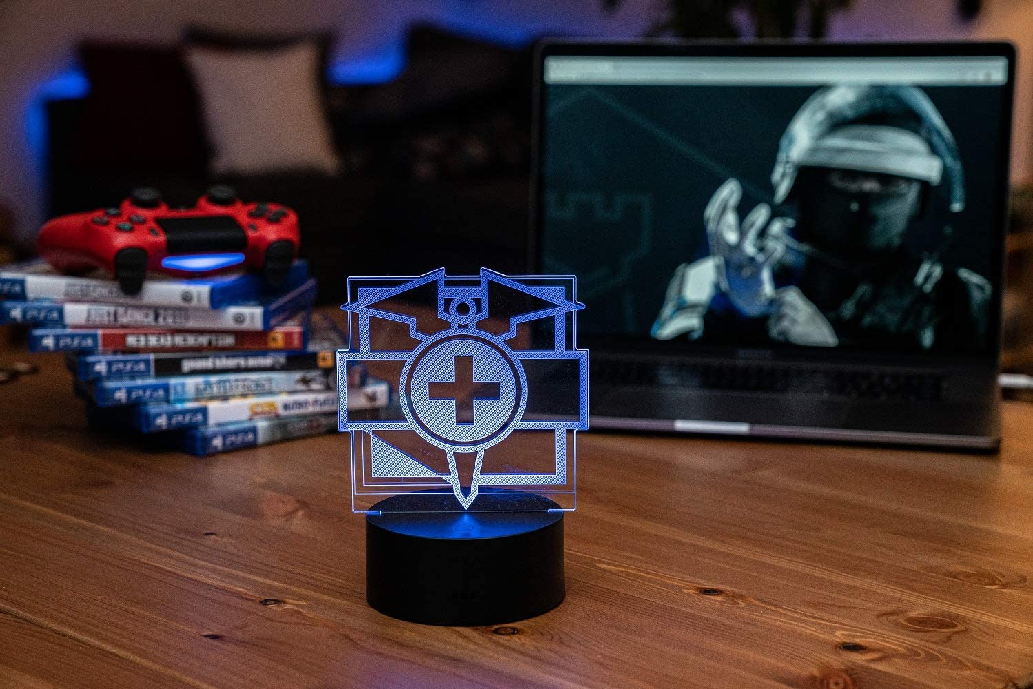 Six Siege LED Lamp - Doc Operator - Rainbow Six Siege Decor for The Bedroom or Gaming Studio - Color Changing LED Nightlight Great for Cosplay Photoshoots with Any R6 Character