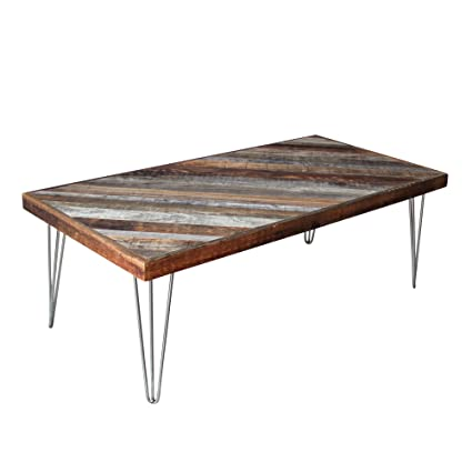 Amazoncom Plank And Mill Reclaimed Barnwood Coffee Table