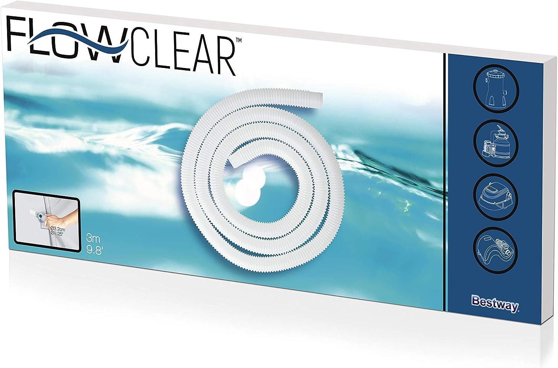 Bestway tubo da 3mt attacco 32mm per pompe filtro sabbia piscina accessori 58369