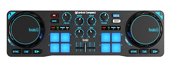 front facing hercules dj control compact