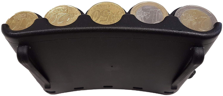 Ideal f/ür Kellner Busfahrer M/ünzwechsler M/ünzsortierer GERADER M/ÜNZSPENDER Kellnerin CLAIRE-FONCET M/ünzspender der 5-Euro-Hauptm/ünzen Messegel/ände Portemonnaie Stra/ßenh/ändler Taxifahrer